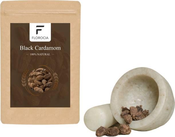 Florocia 100% Natural & Organic Black Cardamom Kali Elaichi Ilaichi 50gm