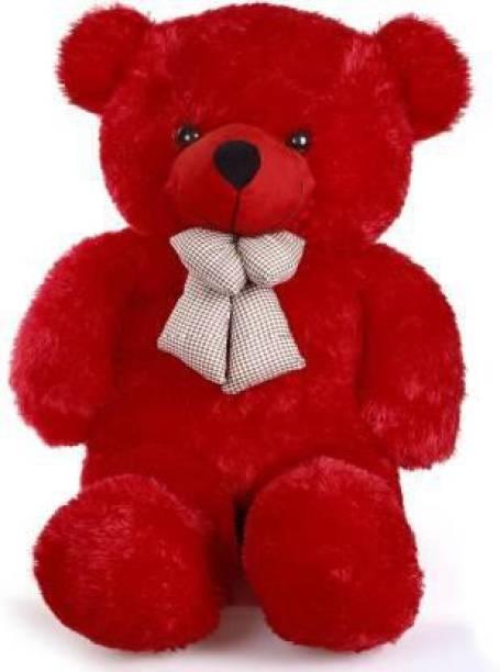 stuffed toy 3 feet red teddy bear  - 90.2 cm