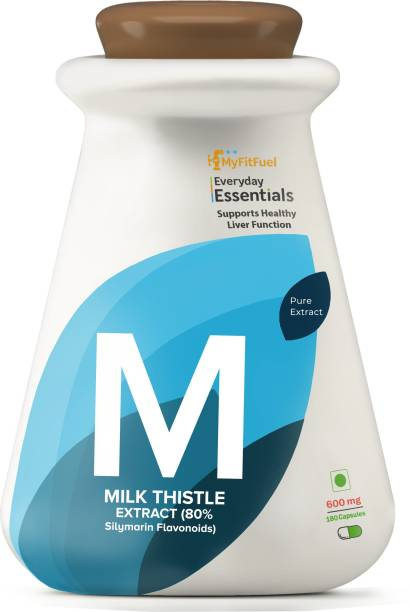 MyFitFuel Milk Thistle Extract (80% Silymarin Flavonoids), (600mg), 180 Capsules