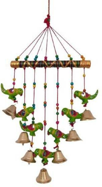 khushbu handicrafts Beautifully designed Wall Hanging Wind Chime For Home and office wall decoration I home decor I wall decoration items I wall Hanging I door decoration material Wood Windchime