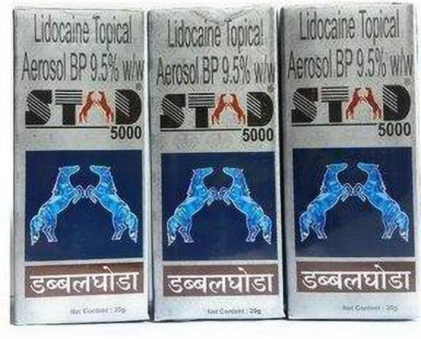 Stud 5000 Double Ghoda Spray For Men (Pack OF 3)