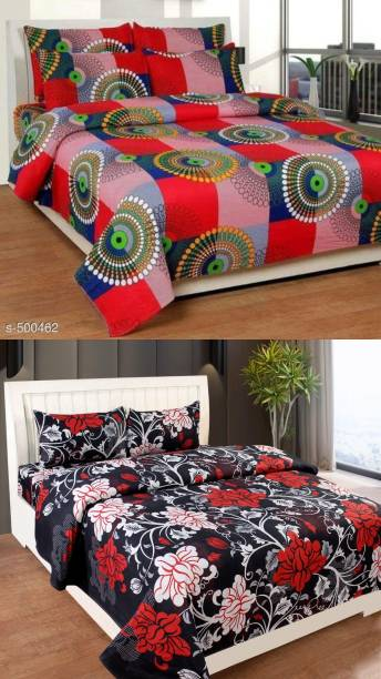 Decorum 160 TC Polycotton Double Printed Bedsheet