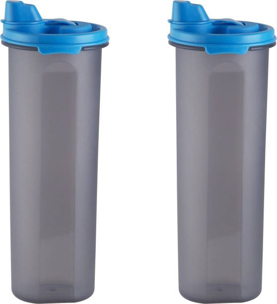 POLYSET Magic Seal Oil Canister 810ML Black Bottom Blue Lid,  - 810 ml Plastic Utility Container