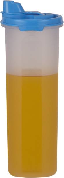 POLYSET Magic Seal Oil Canister 810ML White Bottom Blue Lid,  - 810 ml Plastic Utility Container