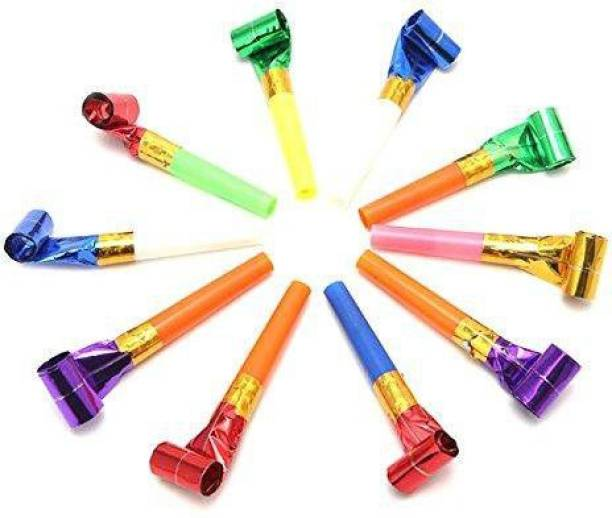 Lajbir kids birthday parties children whistle Squeeze Whistle (Multicolor, Pack of 10) Squeeze Whistle