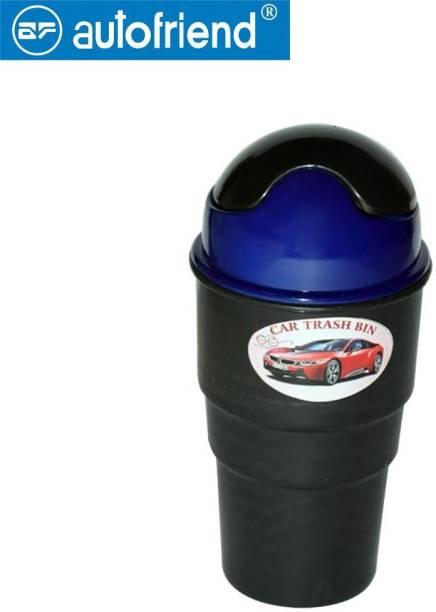 Autofriend Car Garbage Bin (Color Black,Blue Pack of 2) Car Trash Bin Bag