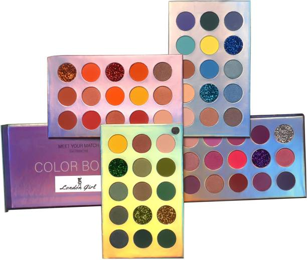 London Girl Eyeshadow Palette 60 Colors Mattes And Shimmers High Pigmented Color Board Palette 60 g