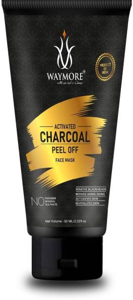 WayMore Activated charcoal peel-off mask 60 ml For Blackhead & Dead Skin Removal Tightens Pores, Deeply Cleanses for Men & Women