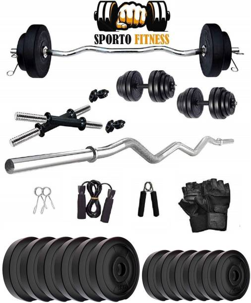 Sporto Fitness 30 kg 30 KG CURL Home Gym Combo