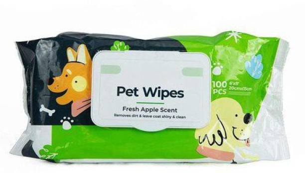BLACK DOG Pet Wipes 100pc Pet Ear Eye Wipes