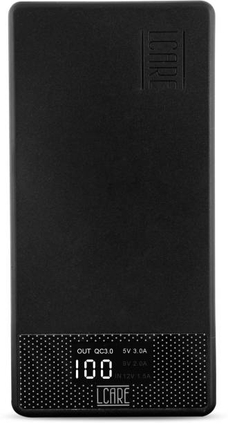 LCARE 10000 mAh Power Bank (18 W, Quick Charge 3.0)