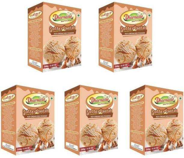 Dharmasut Butterscotch Ice Cream Powder 500 g (Pack of 5) 500 g