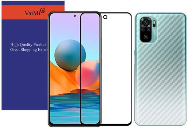 VaiMi Front and Back Tempered Glass for REDMI NOTE 10
