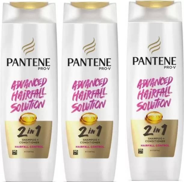 PANTENE Shampoo + Conditioner Hair fall Control Shampoo 340 Ml *3 Pcs