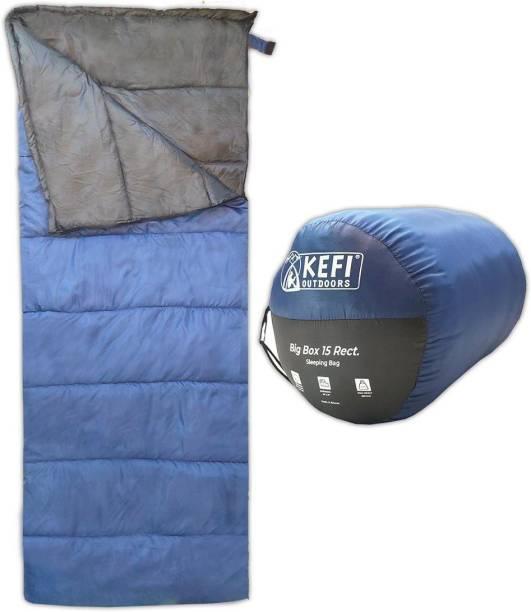 Kefi Outdoors Big Box 15 Rectangular Sleeping Bag - Perfect for Camping, Travelling and Trekking Sleeping Bag