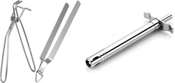 A2SK special lighter chimta pakkad set 17 cm Roasting, Utility Tong Set