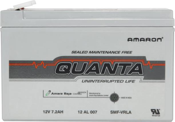 Amron 12V 7AH SMF Battery for Use in Any UPS/ Solar/ Mini Inverter and More Instruments 7 Ah Battery for Car