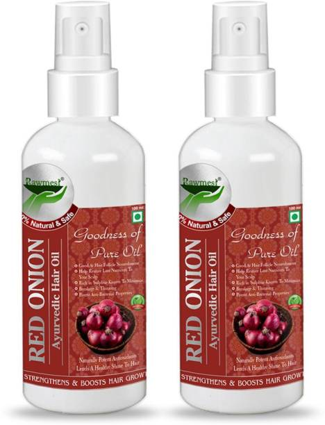 Rawmest Ayurvedic Red Onion Hair Oil - With Redensyl and Natural Dht Blockers, For Strong, Thick and Nourished Hair