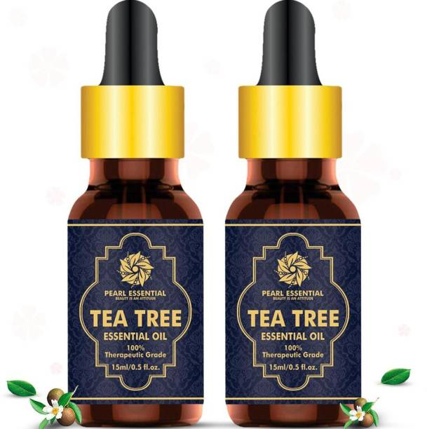 PEARL ESSENTIAL Tea Tree essential oil,prevent and reduce acne, get rid of nail fungus, reduce fine line and wrinkle, brighter and smoother new skin, and reduced and regulate oiliness, (pack of 2) 2X15ml