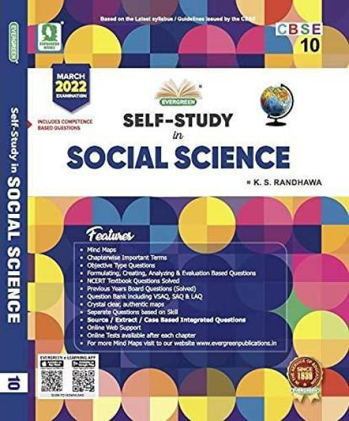 Evergreen Cbse Self-Study in Social Science - Includes Summative and Formative Assessments Term - 2 (Class - 10)