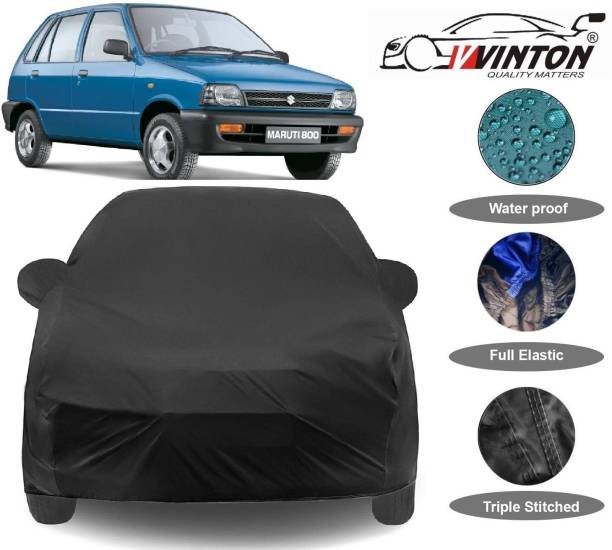 V VINTON Car Cover For Maruti Suzuki 800 (With Mirror Pockets)