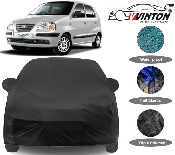 V VINTON Car Cover For Hyundai Santro Xing (With Mirror Pockets)