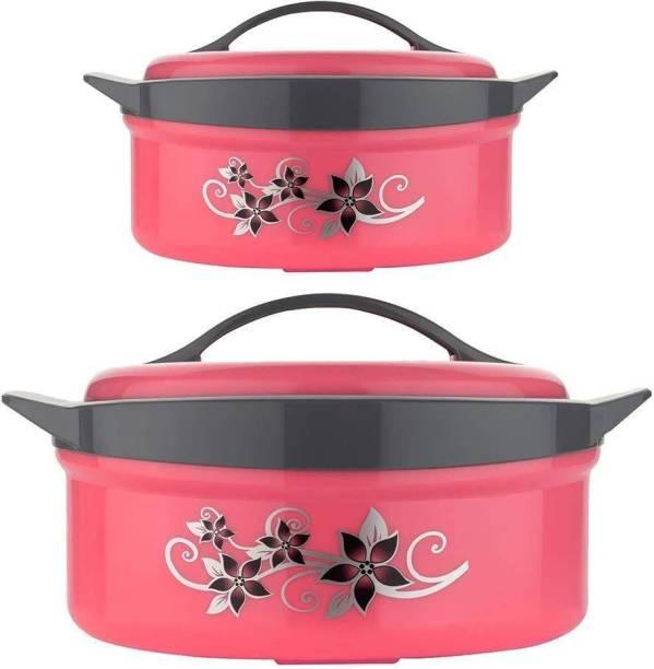 Shopixo Royal King Casserole Hot-Pot Inner Steel Casseroe Combo of 1500ml & 2500ml for Kitchen Pack of 2 Cook and Serve Casserole Set