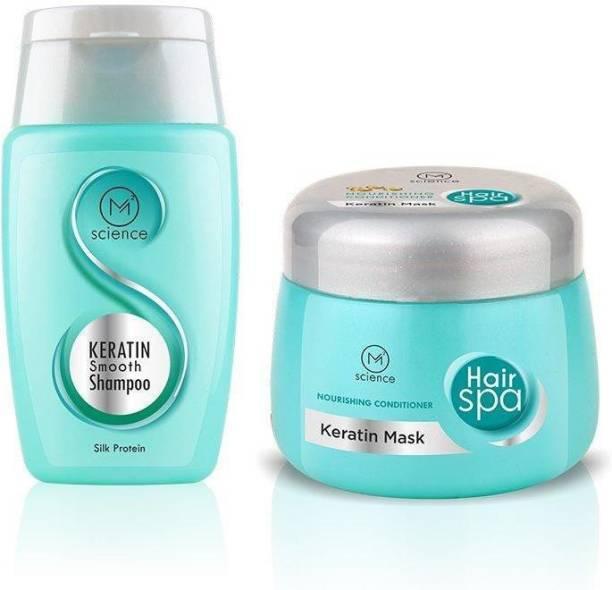 Mela Metrix Keratin Hair Smoothing Shampoo and Keratin Hair Conditioning Hair Mask for Hair fall Control - 100ML (SHAMPOO) & 200GM (CONDITIONING MASK)