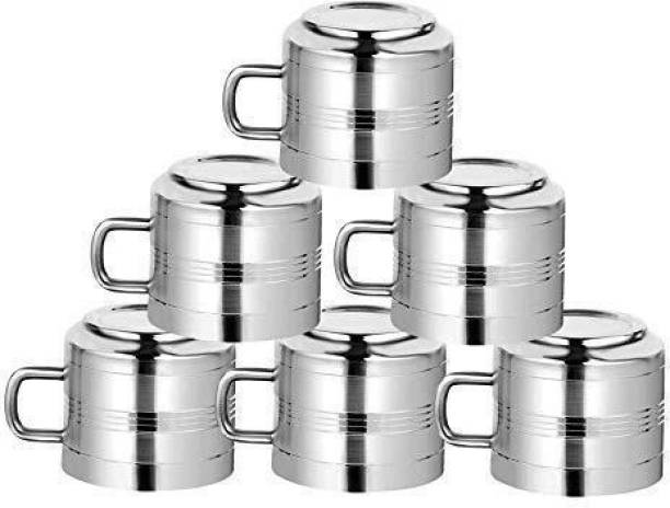 Merchant Home Pack of 6 Stainless Steel STAINLESS STEEL TEA CUP