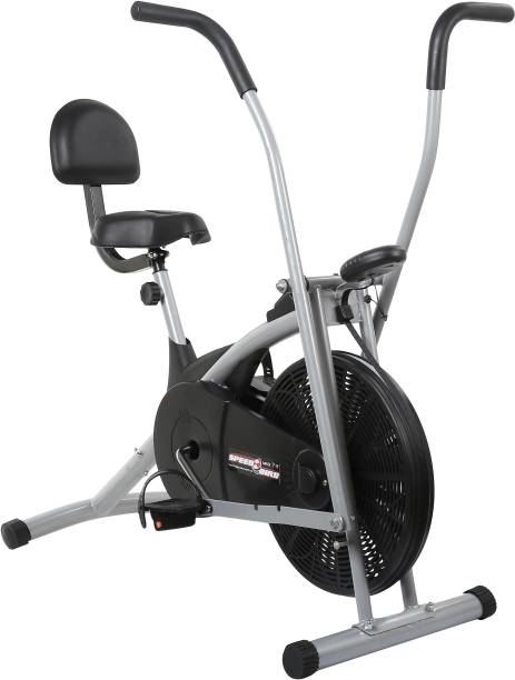 SPEED BIRD Exercise Cycle with Back Support & Moving Handles - Air Bike for Home Gym Indoor Cycles Exercise Bike