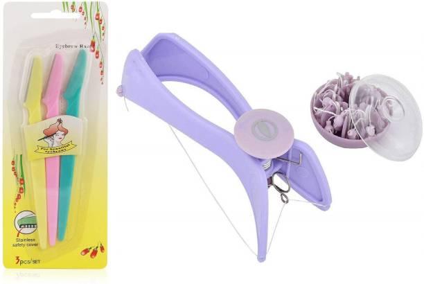 Taxila yebrow Hair Threading Tweezer Kit With Eye Razor Eyebrow Thread