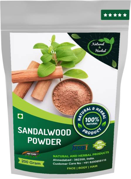 NATURAL AND HERBAL PRODUCTS Sandalwood Powder (Chandan Powder) For Skin Care(Face Mask) and Hair Growth - 200 Gm