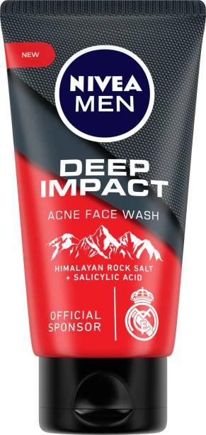 NIVEA MEN Facewash, Deep Impact Acne, with Himalayan Rock Salt, 50 gm Face Wash
