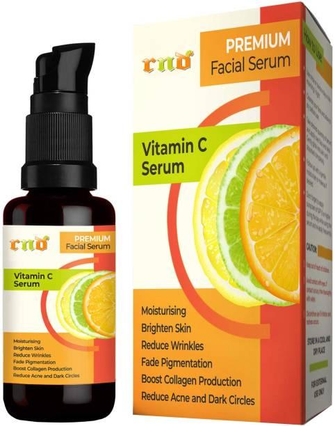 RND Premium Vitamin C Facial Serum for Anti-Aging, Hyperpigmentation, Reduce Wrinkles, Skin Toning with Vitamin C, Hyaluronic Acid, Aloe Vera Extract