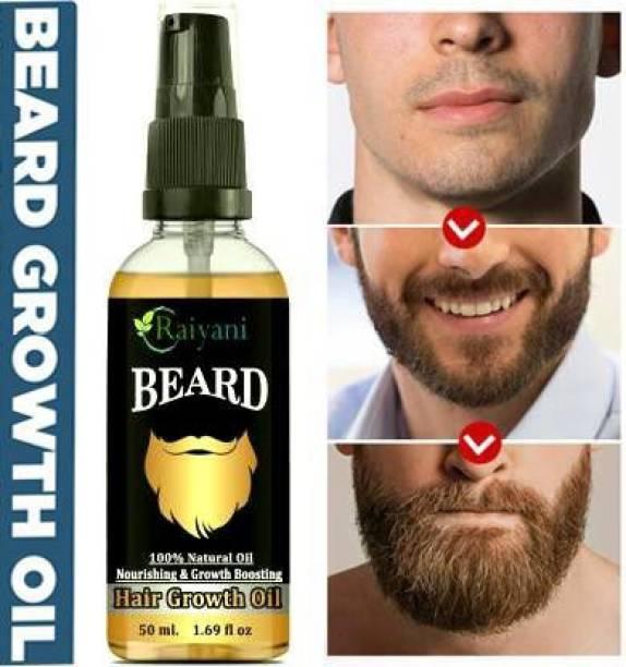 Raiyani Advanced and fast Beard Growth Oil for strong and healthy beard growth Hair Oil - 50ml Hair Oil (50 ml) Hair Oil