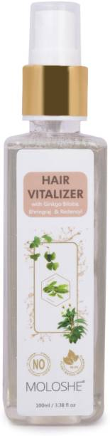 Moloshe Hair Vitalizer With Ginkgo Biloba, Bhringraj & Redensyl, Non-sticky for Hair Regrowth