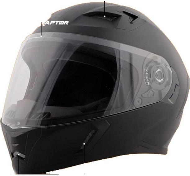 Steelbird SBA-21 RAPTOR HI-QUALITY DASHING BLACK 580 MM SIZE M Motorsports Helmet