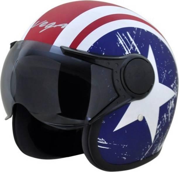VEGA Jet Captain W/VISOR Motorbike Helmet