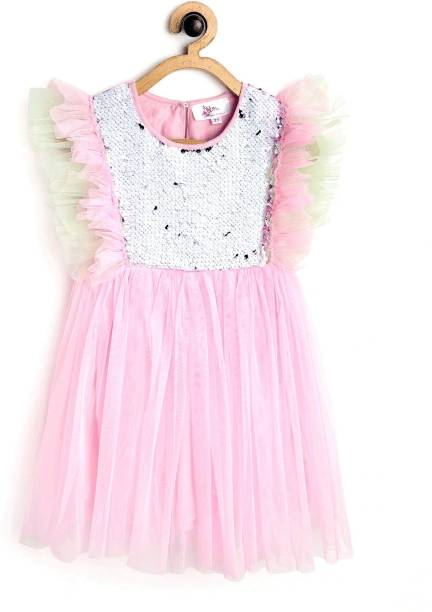Bella Moda Girls Midi/Knee Length Party Dress