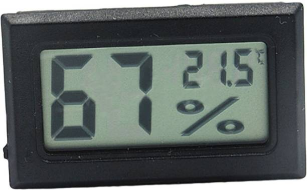 SSK and Sons 6 Mini Digital Temperature Humidity Meter Gauge Thermometer Hygrometer LCD Degree Centigrade (C) Display Indoor (Humidity with Probe) All-in-One Digital Moisture Measurer
