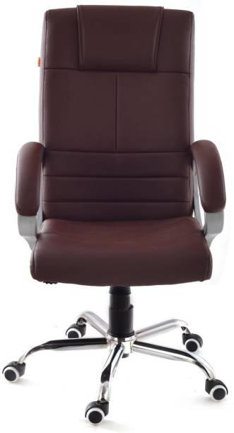 Da URBAN Fermo Brown Leather Office Executive Chair