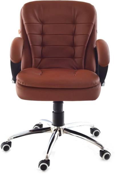 Da URBAN Milford Tan Leather Office Executive Chair