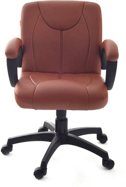 Da URBAN Deaver Tan Leather Office Executive Chair