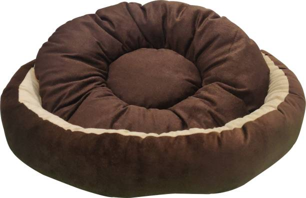 Dogerman Reversible Super Soft Velvet Round Cat Dog Pet Bed S Pet Bed