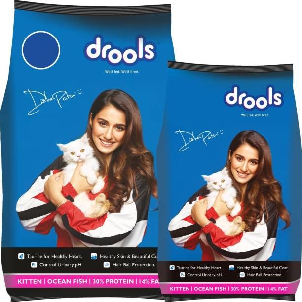drools 1.2kg Cat Food with Drools 3 kg Ocean Fish 4.2 kg (2x2.1 kg) Dry Young Cat Food