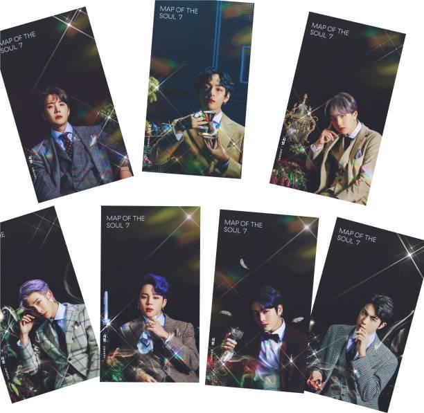 BTS Photo Postcard Lomo Cards (Set of 9) Fine Art Print (4.7 inch X 2.7 inch) 3D Poster