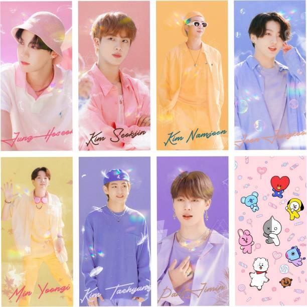 BTS Photo Postcard Lomo Cards (Set of 8) Fine Art Print (4.7 inch X 2.7 inch) 3D Poster