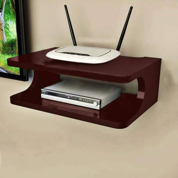 Clover Crafts Setup Box Stand / Holder / Wifi Holder MDF (Medium Density Fiber) Wall Shelf