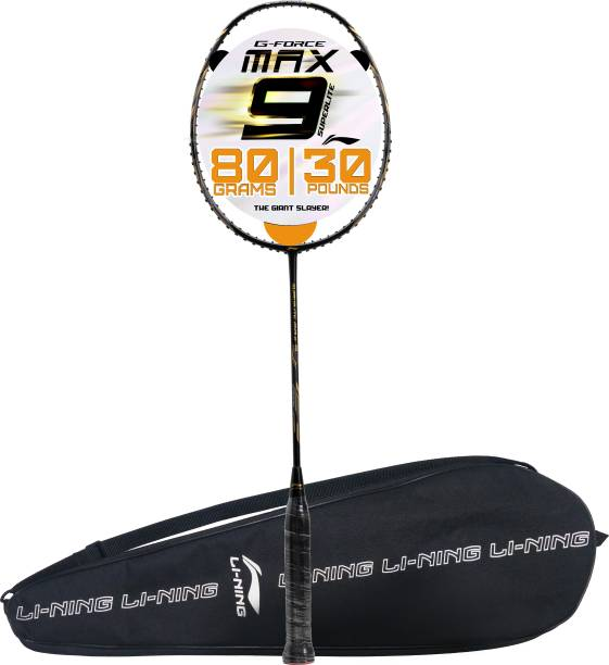 LI-NING G-Force Superlite Max 9 Black, Gold Unstrung Badminton Racquet