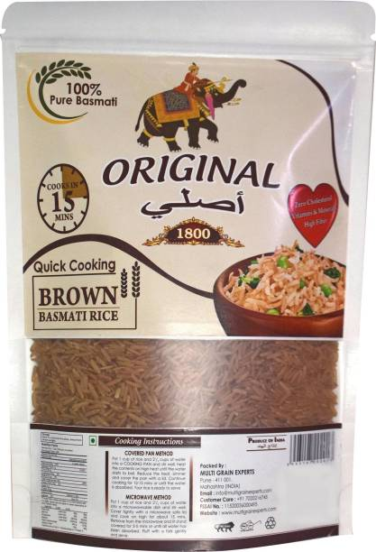 Original 1800 (Label) Brown Basmati Rice Brown Basmati Rice (Long Grain, Raw)